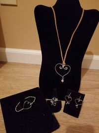 Wire Wrapped Hearts Collection Style #2 $20.00