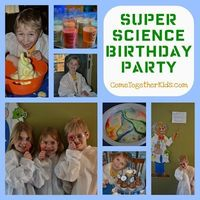 Wow! What a great way to celebrate your birthday... A Super Science Birthday Party! With ooey gooey ingredients and explosive experiments, this party will not only be extremely wacky and fun but educational and illuminating! Check it out at Come Together ...