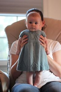 Love this little knit dress! Now I just need a friend to have a baby girl for me to make this for! :) BTW...how sweet cute is this little baby?