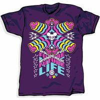 Mens Clothing Terratag WFL-808 Purple T-Shirt Terratag WFL-808 Purple T-ShirtHypnotic contemporary print which is inspired by the neon city lights of Tokyo. The Dephect logo gets a dazzling reworking in bright blue pink and yellow.Short sleeve 10 http://w...