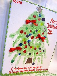 stink - wish i had seen this for parent gifts this year. oh well - next year handprint christmas tree canvas
