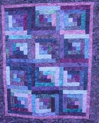 Lap Quilt Purple Batik Reserved for Beth by QuiltsintheCity