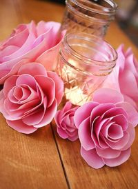 paper flower tutorial, paper flower centerpieces and paper flowers.