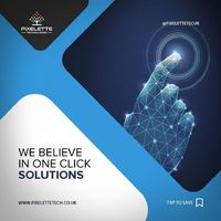 You think solutions can be provided instantaneously? Try Us! https://pixelettetech.co.uk/ #PixeletteTechnologies provides one-click IT solutions for all your digital problems and that too at unbelievable prices. #UK #IT #IT Solutions #Pixelette #Techno...
