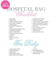 I remember thinking that �€œpacking the hospital bag�€ would be something I did way down the road when I was much more prepared for baby. But now that I've finishe
