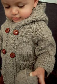 Ravelry: Latte Baby Coat pattern by Lisa Chemery. Also pattern includes without hood.