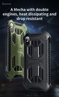 Baseus Armor Protective Case For iPhone XS Max Shockproof Heat Dissipation Back Cover