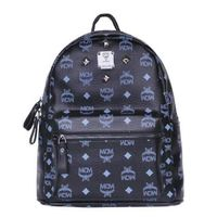 MCM Small Stark Four Studded Backpack In Black
