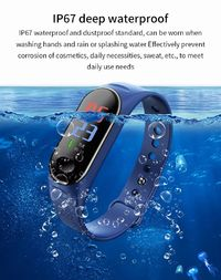 Bakeey H19L Heart Rate Blood Oxygen Pressure Monitor 0.96inch TFT Color Display Multi-sport Modes Smart Watch