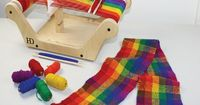 """Trying to balance screen-time with other activities? Weaving with this loom offers children an unplugged way to learn and play, practicing critical motor skills while developing a deep understanding of the value of """"handmade."""" #DIY Beginner'..."""