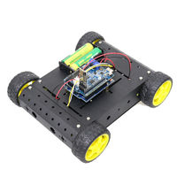 Bluetooth Control Version C400 4WD Smart Chassis Car DIY Remote Control Kit for Arduino with Bluetooth Module+UNO R3 Board+Motor Driver Board