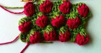 Crochet Strawberry Stitch Tutorial from Crochet & More Blog. This is a beauty!