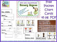Fun Nursery Rhymes Pocket Chart Activity (free printable) by Carolyn from Wise Owl Factory at PreK + K Sharing