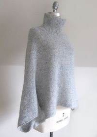 Mayu is an easy to wear pullover that is perhaps best described as a stylish poncho with sleeves. The tweediness of the Fine Donegal and the soft halo of the Silk Cloud combine to create a beautiful fabric that is both slightly rustic and decidedly sophis...