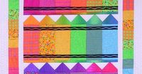 Crayons Pieced Quilt Patterns by Bits n Pieces