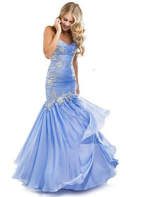 Beaded Flirt P4812 Lace Mermaid Prom Dresses