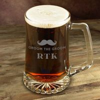 Not all mugs are the same, the mustache is back! This addition to your groomsmen's barware collection features a unique yet classic mustache design and is personalized, making a quirky gift that is a great conversation starter.