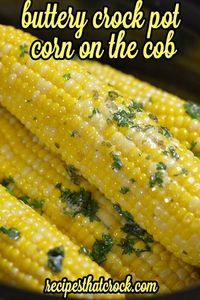 Crock Pot Corn on the Cob: Toss in the slow cooker and go method-- no foil! Great for cookouts with family and friends. #CrockPot