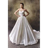 Liliana by Enzoani - Silk Dupion Floor Sweetheart Strapless A-Line Ballgown Wedding Dresses - Bridesmaid Dress Online Shop