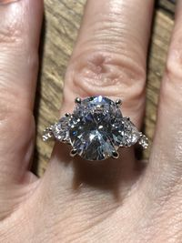 A Classic 5CT Oval Cut Belgium Lab Diamond Engagement Ring $205.00