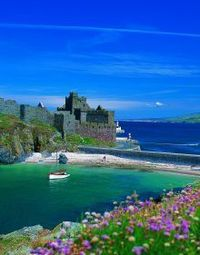 Peel Castle on the Isle of Man. built in the 11th century by the Vikings, under the rule of King Magnus Barelegs.