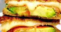 avocado grilled cheese sandwich...can easily be veganized : )