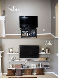Living room... Idea for TV wall - Click image to find more DIY & Crafts Pinterest pins