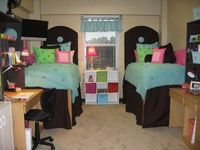 Don't worry, your room won't stay this tidy, but it's a great start! This website has some cool tips as well for dorm decoration, ladies.