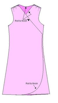 Wrap dress pattern (don't want the exact dress here but this gives a general idea of how to make)