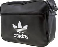 Adidas Black Airliner Classic Bags You cant beat a black faux-leather shoulder bag for a slick and versatile accessory, unless of course, its from adidas. The Airliner Classic flies in featuring contrasting off-white trefoil branding w http://www.compares...