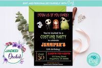Kids Halloween Costume Party, Childrens Halloween Costume Invitation, Kids Halloween Party - INSTANT ACCESS - Edit NOW using Corjl $8.99
