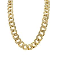 Gold Finish Cuban Link Chain Necklace £32.95