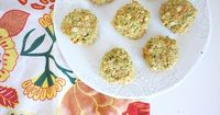 Vegan Chickpea Patty Recipe; great finger food for toddler and baby. It freezes really well too!