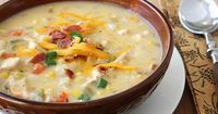 """A few days ago, my husband dropped a few hints �€"""" Texas-sized ones �€"""" that he would be tickled if a bowl of chicken and corn chowder dropped from the heavens into"""