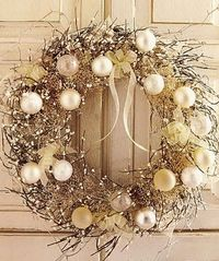 Wintry Wreath Tutorial- A touch of frost and a touch of glitter. This wreath will make a beautiful addition to your Christmas decor.