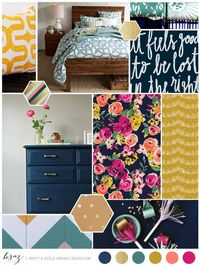 """Late night pinning and dreams of spring cleaning (if spring ever decides to grace Chicago) have lead me to virtually """"re-doing"""" our bedroom. We all have that on"""