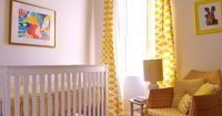 Name: Neve (due Jan.)Location: London, Ontario, Canada Color Inspiration: I found a yellow Ikat fabric which I loved. Yellow is such a happy colour! We used tha