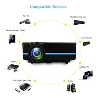VS 313 Projector 2000 lumes Colorful mini Portable Home Theater led projector Support 4k