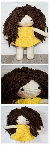 The Friendly Amelia Doll comes with three different ways to attach hair/hairstyles, pattern for the dress, optional shoes, and picture heavy tips and tricks so even a beginner could make this doll!