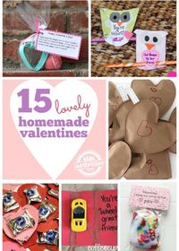 Homemade valentines are the best kind because they are made with love!