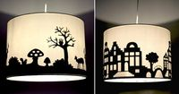 DIY lampshade silhouette (projects, crafts, do it yourself, interior design, home decor, easy, fun, cheap, ideas, inspiration, reduce, reuse, recycle, used, upcycle, repurpose, lamp)