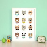 Children's wall poster - Kids vintage bear wall decoration oh my gosh i need this. Cutest ever