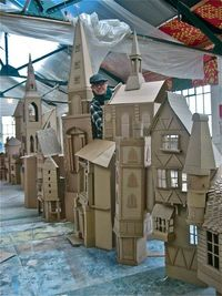 Simon Costin's Charles Dickens Diorama by spitelfieldslife: Made of cardboard boxes! #Diorama #London #Cardboard Boxes