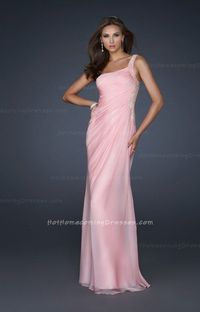 La Femme 17684 Two strap Sexy Pink Short Classic Prom Dresses for 2013