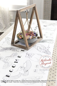 Wizard Style Party Decor Owlery Themed Coloring Page Table Runner Children's Games Activities Owl Theme Birthday Group Craft Activity $25.88