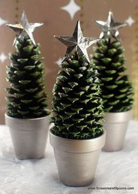 DIY pinecone trees..Extremely Creative and Easy DIY Coffee Cup Craft Ideas #DIY #crafts #coffee #cup #kcup