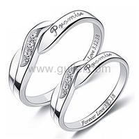 Gullei.com Customized His and Hers Promise Rings Set of Two 4mm