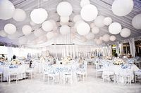 White wedding, with a touch of blue....then the bride in a blue wedding dress!