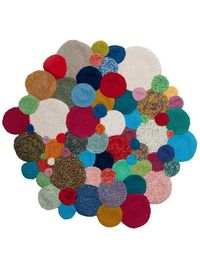 Bubble rug- i think i could make this, I really need to learn how to sew!