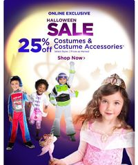 Disney Store Halloween SALE! 25% Off Costumes & Accessories